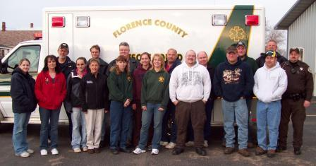A picture of the Florence County Rescue Squad members